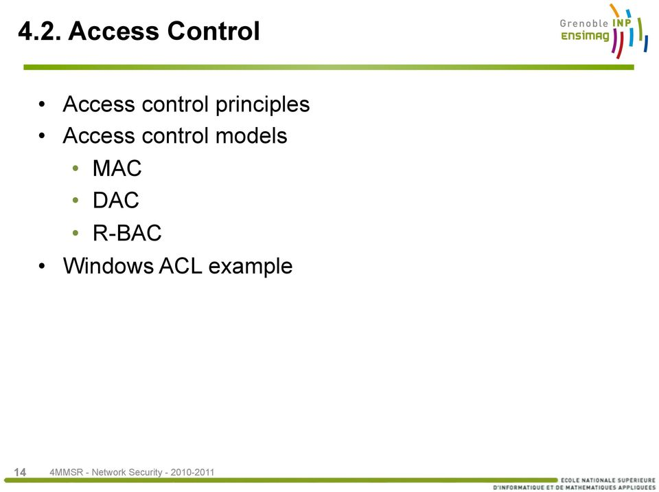 Access control models MAC