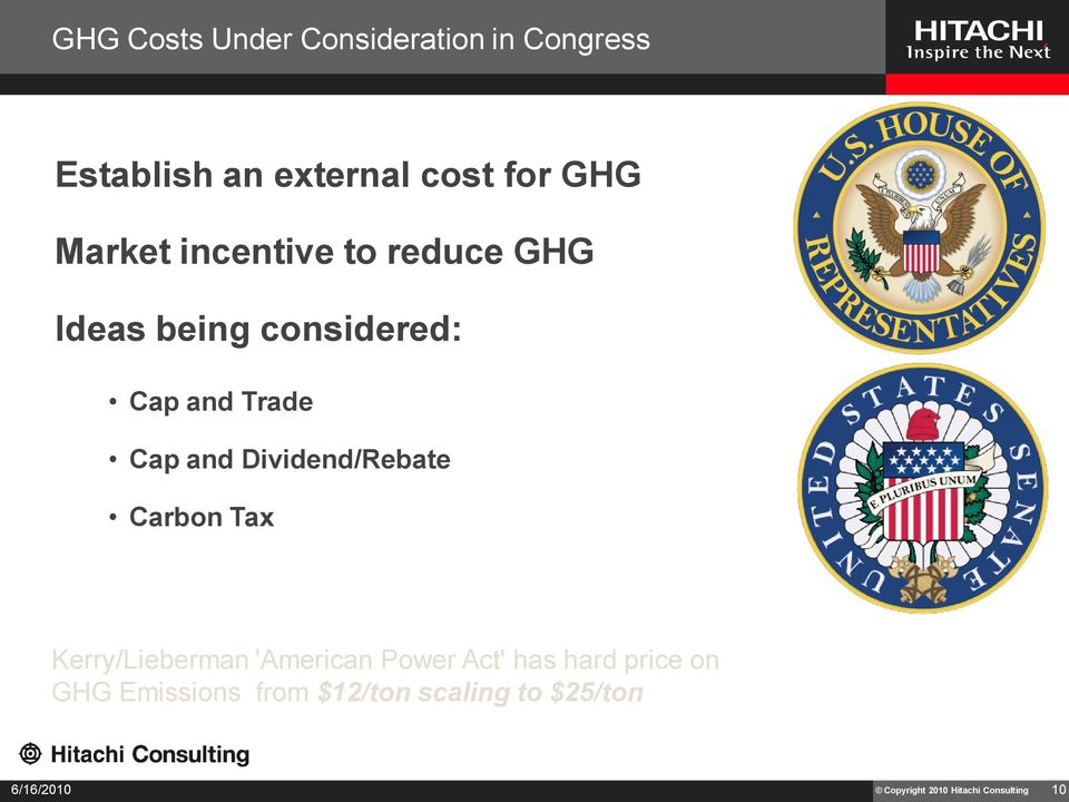 Dividend/Rebate Carbon Tax Kerry/Lieberman 'American Power Act' has hard price on