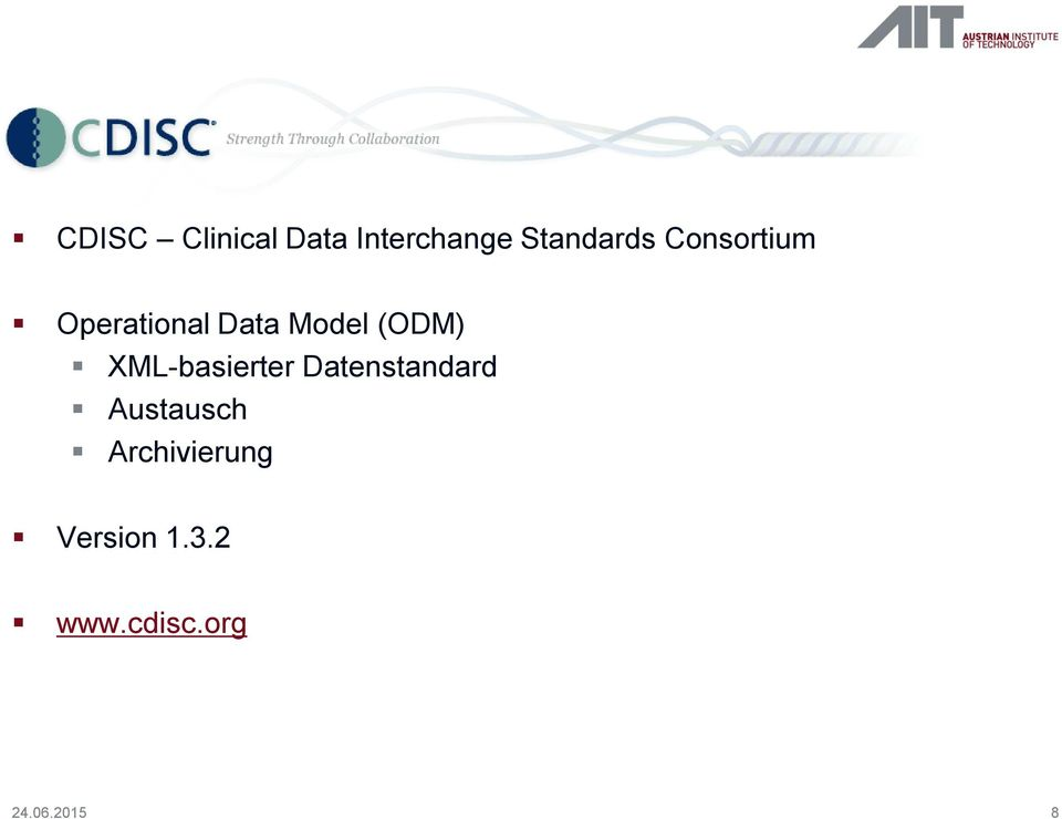 Model (ODM) XML-basierter Datenstandard