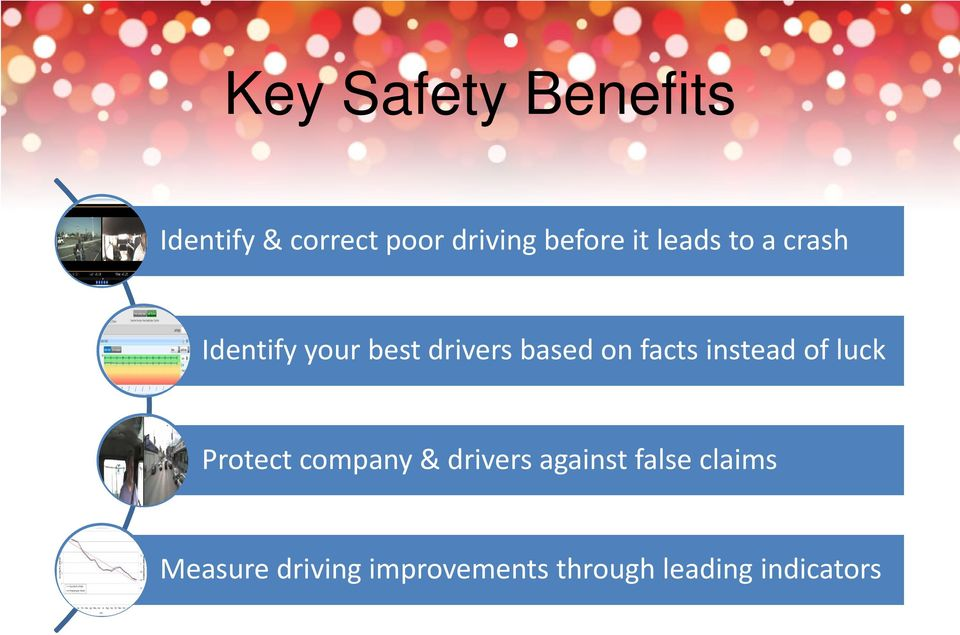 facts instead of luck Protect company & drivers against