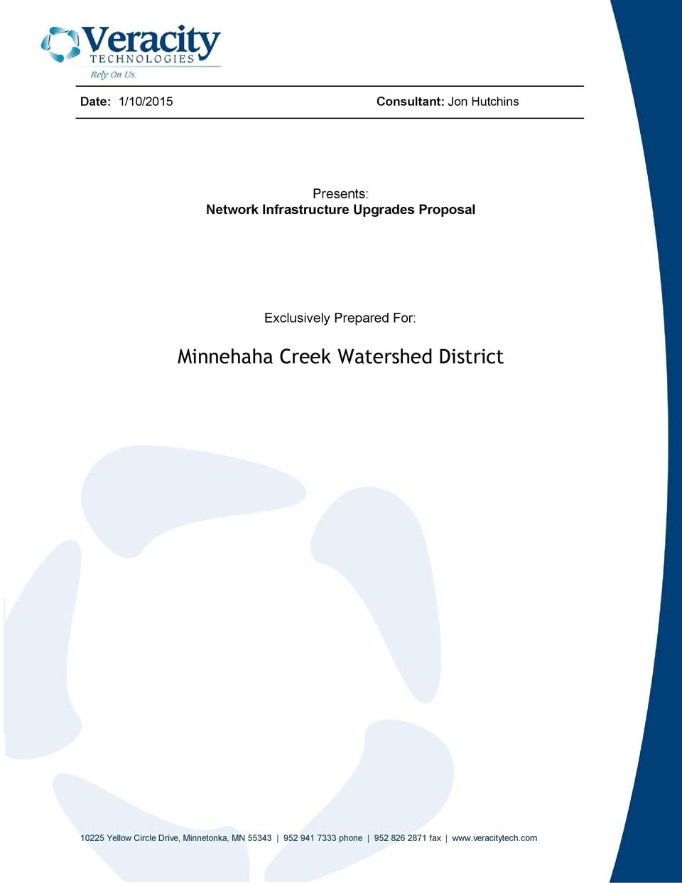 Minnehaha Creek Watershed District 10225 Yellow Circle Drive,