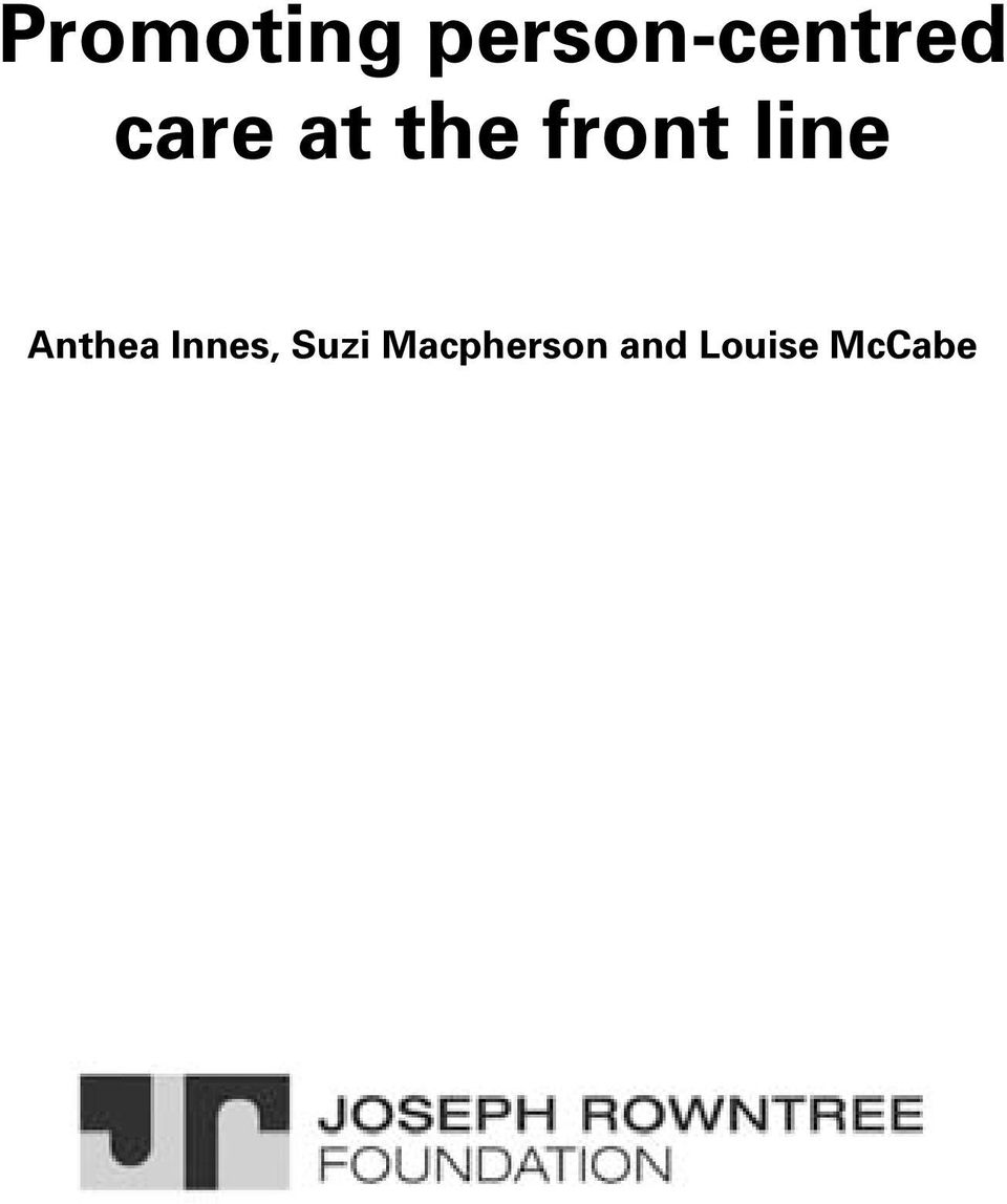 the front line Anthea