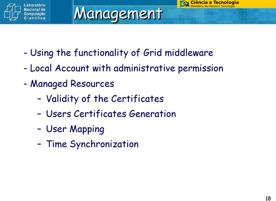 permission - Managed Resources Validity of the
