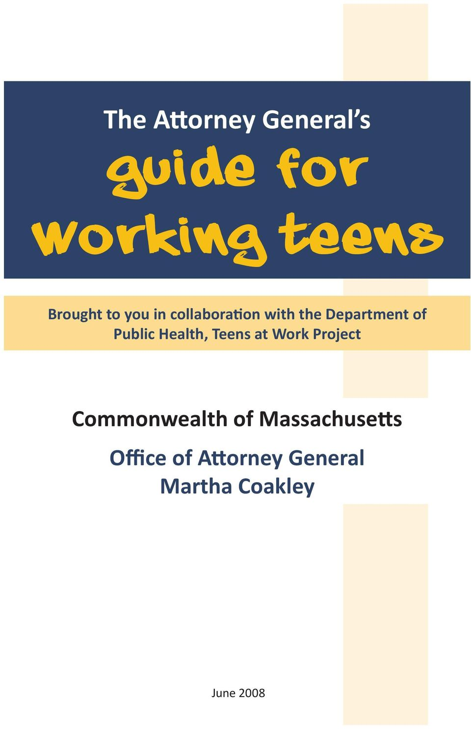 Health, Teens at Work Project Commonwealth of