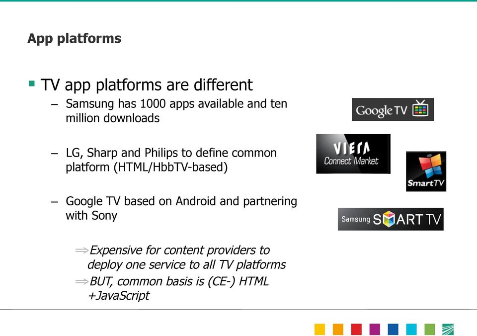 Google TV based on Android and partnering with Sony Expensive for content providers