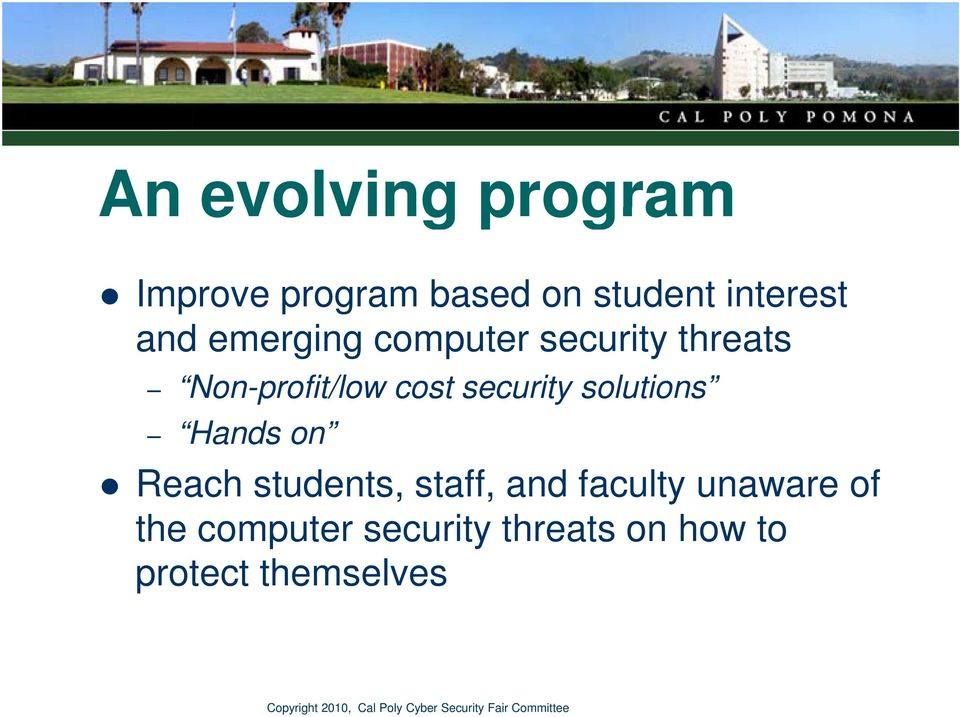 security solutions Hands on Reach students, staff, and faculty