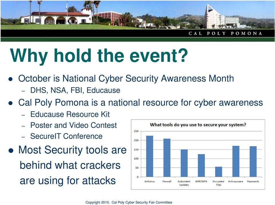 Educause Cal Poly Pomona is a national resource for cyber awareness