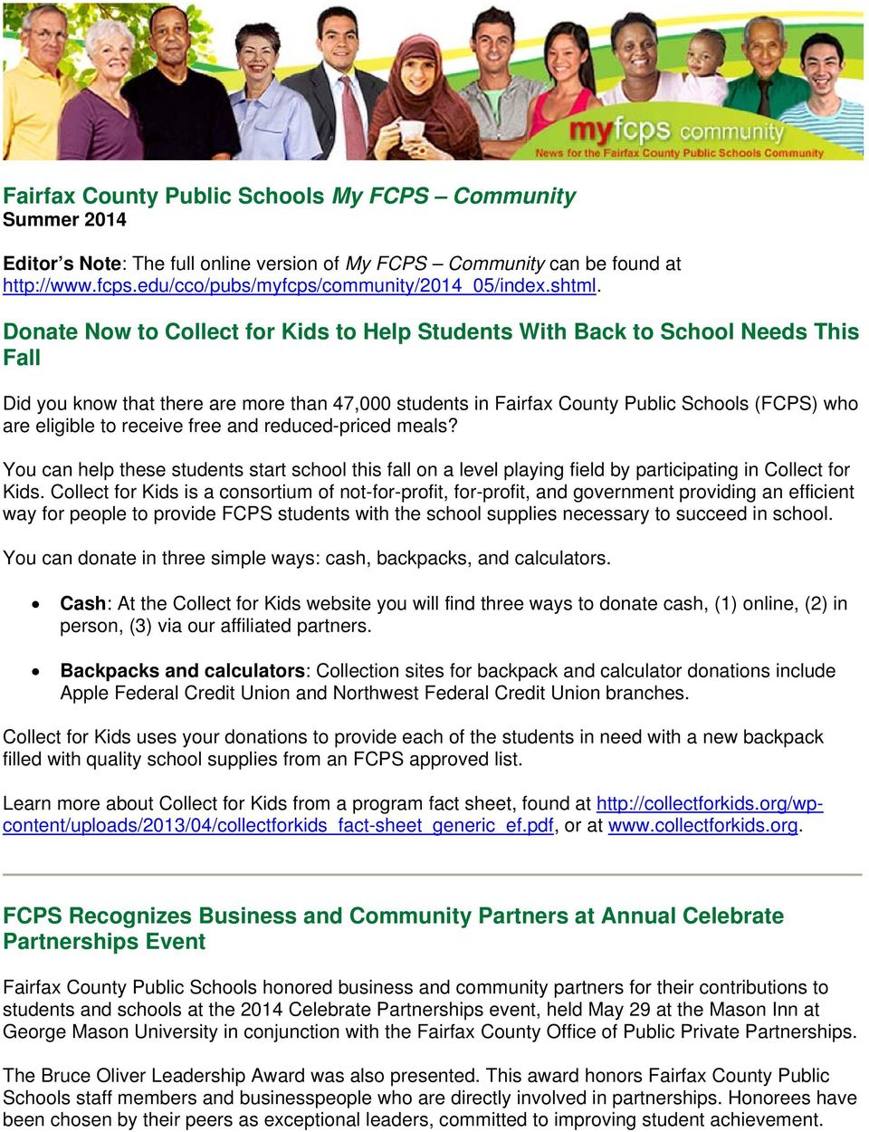 Donate Now to Collect for Kids to Help Students With Back to School Needs This Fall Did you know that there are more than 47,000 students in Fairfax County Public Schools (FCPS) who are eligible to