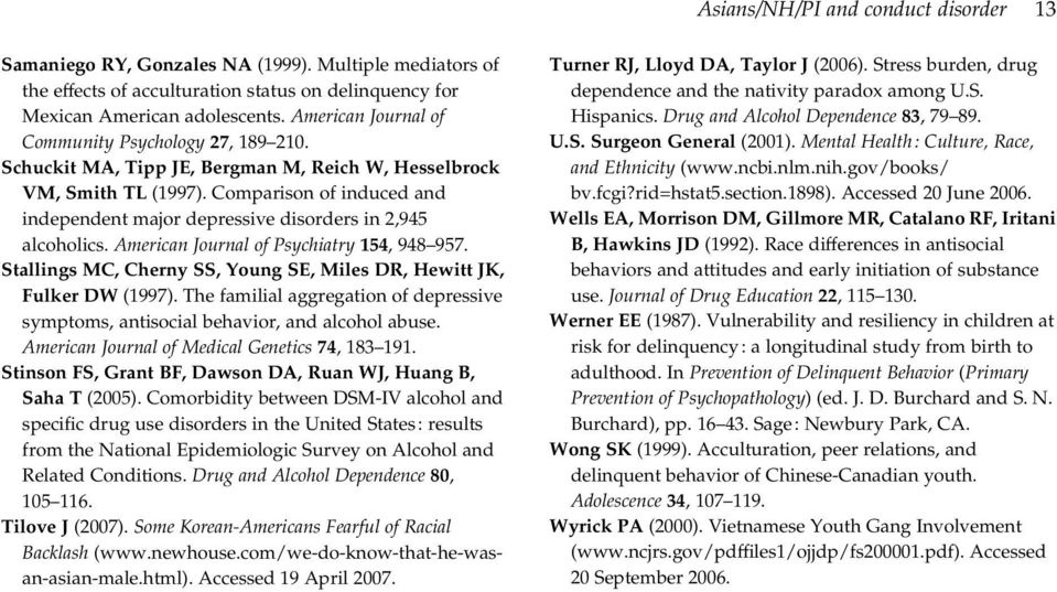 Comparison of induced and independent major depressive disorders in 2,945 alcoholics. American Journal of Psychiatry 154, 948 957.