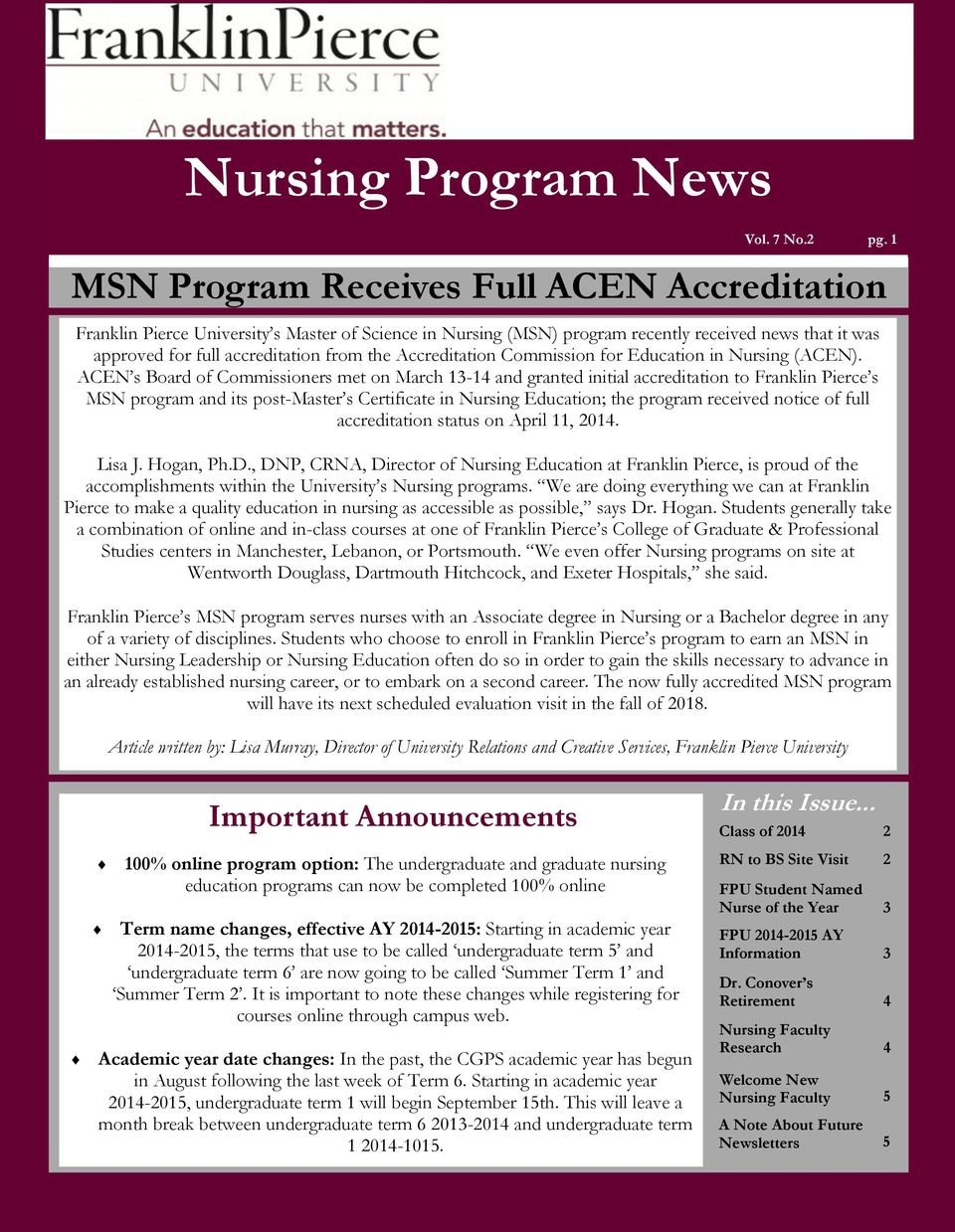 Accreditation Commission for Education in Nursing (ACEN).
