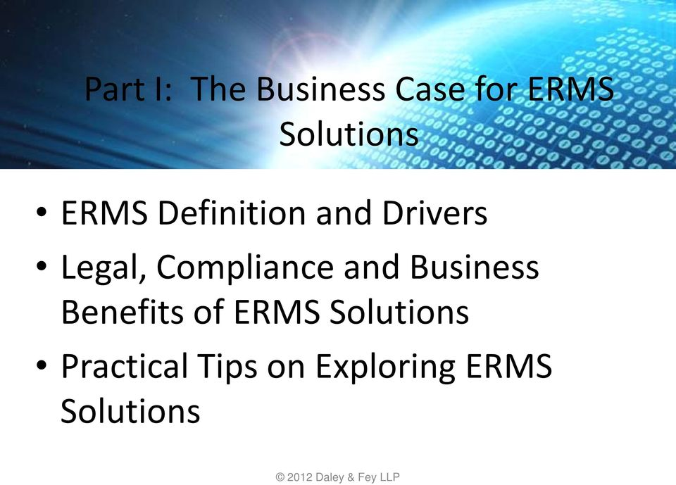 Legal, Compliance and Business Benefits of