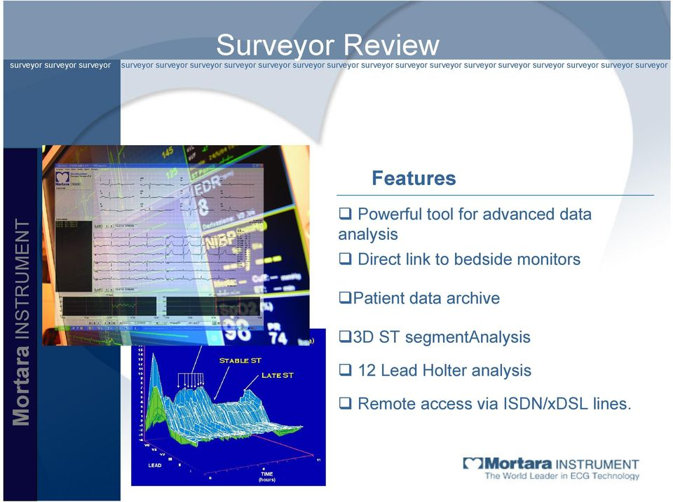 monitors Patient data archive 3D ST