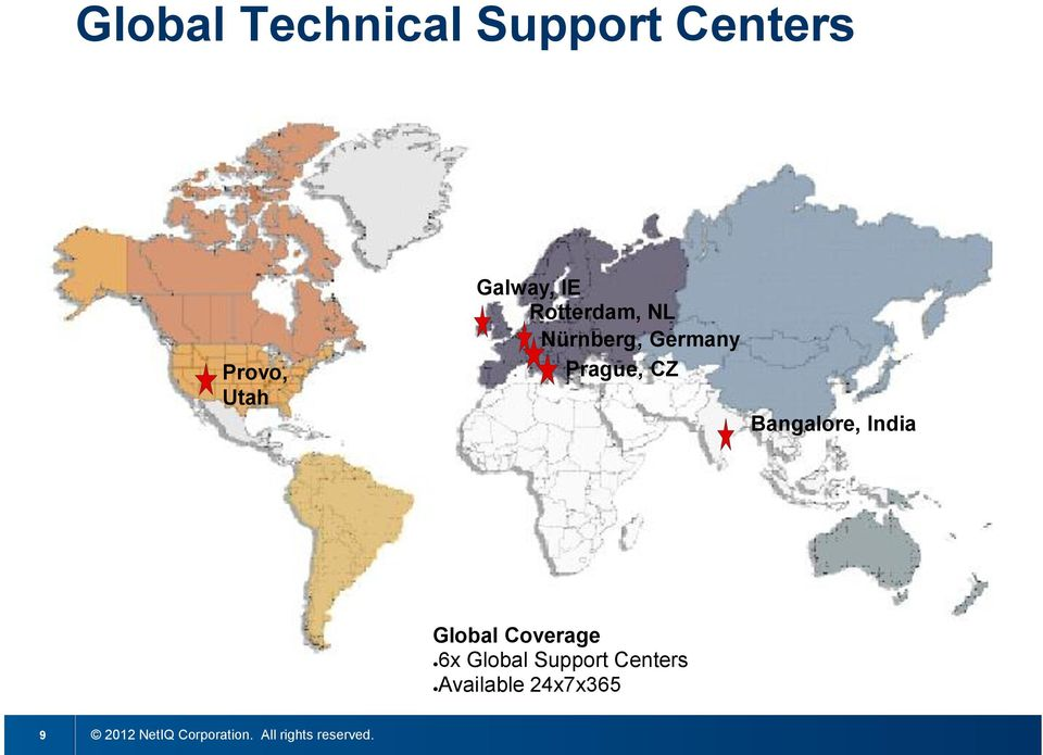 India Global Coverage 6x Global Support Centers