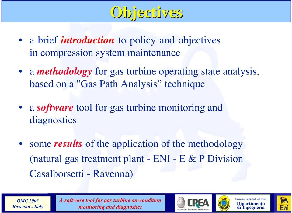 a software tool for gas turbine monitoring and diagnostics some results of the application of