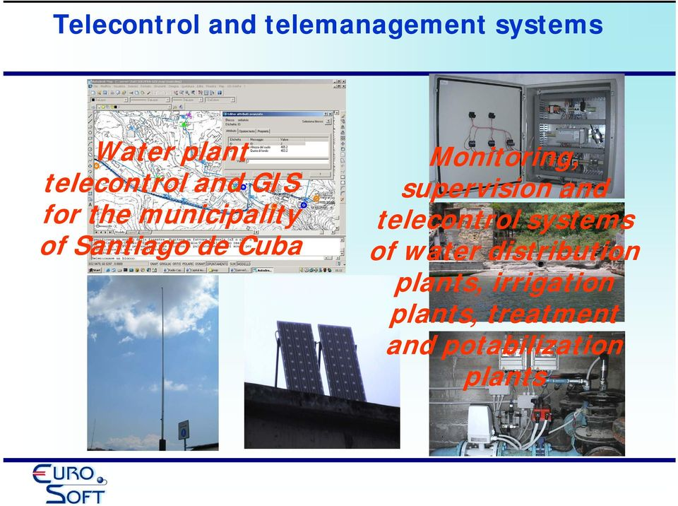 Monitoring, supervision and telecontrol systems of water