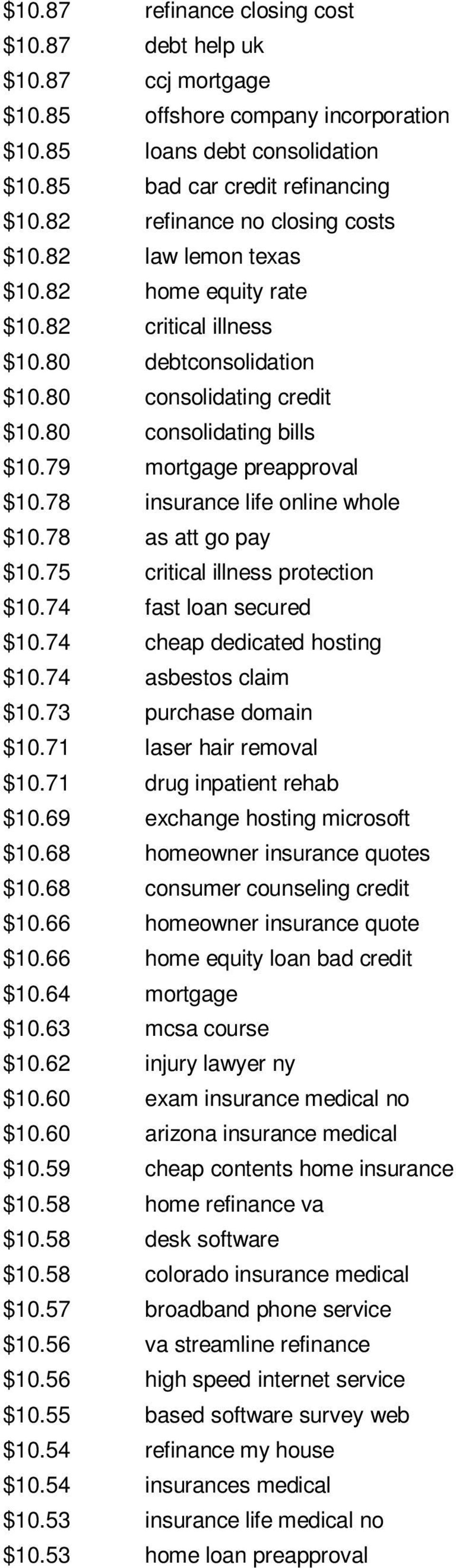 79 mortgage preapproval $10.78 insurance life online whole $10.78 as att go pay $10.75 critical illness protection $10.74 fast loan secured $10.74 cheap dedicated hosting $10.74 asbestos claim $10.