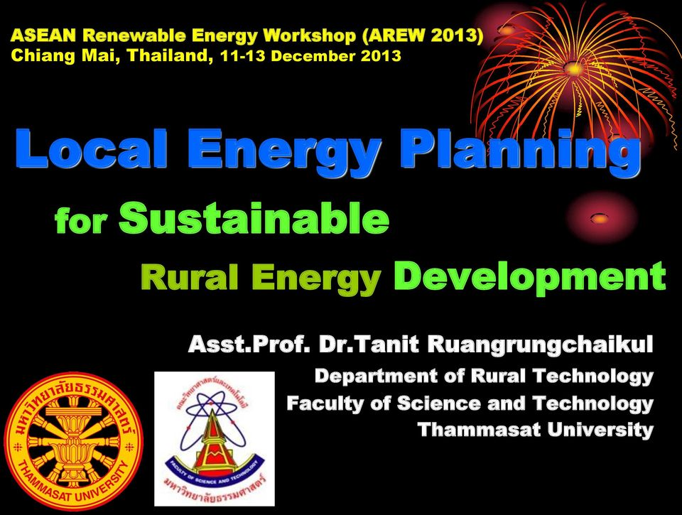 Energy Development Asst.Prof. Dr.