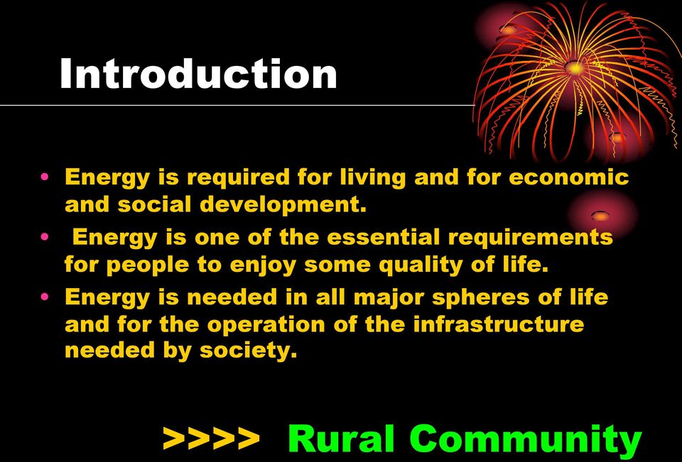 Energy is one of the essential requirements for people to enjoy some