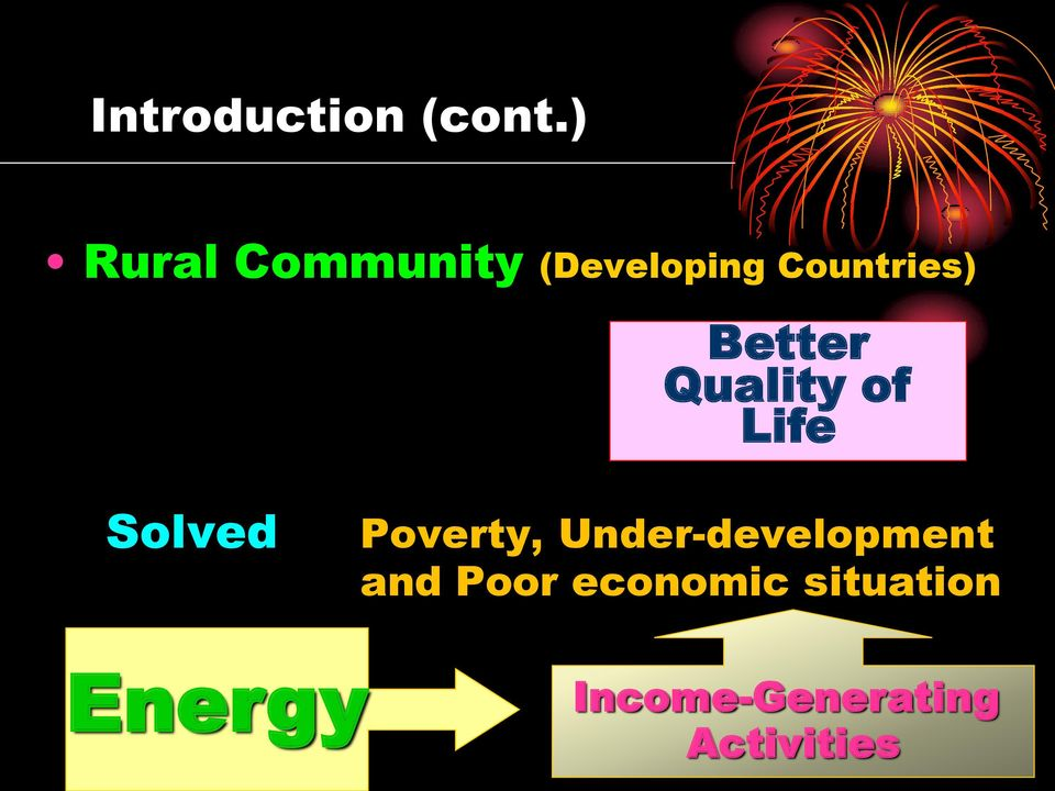Better Quality of Life Solved Poverty,