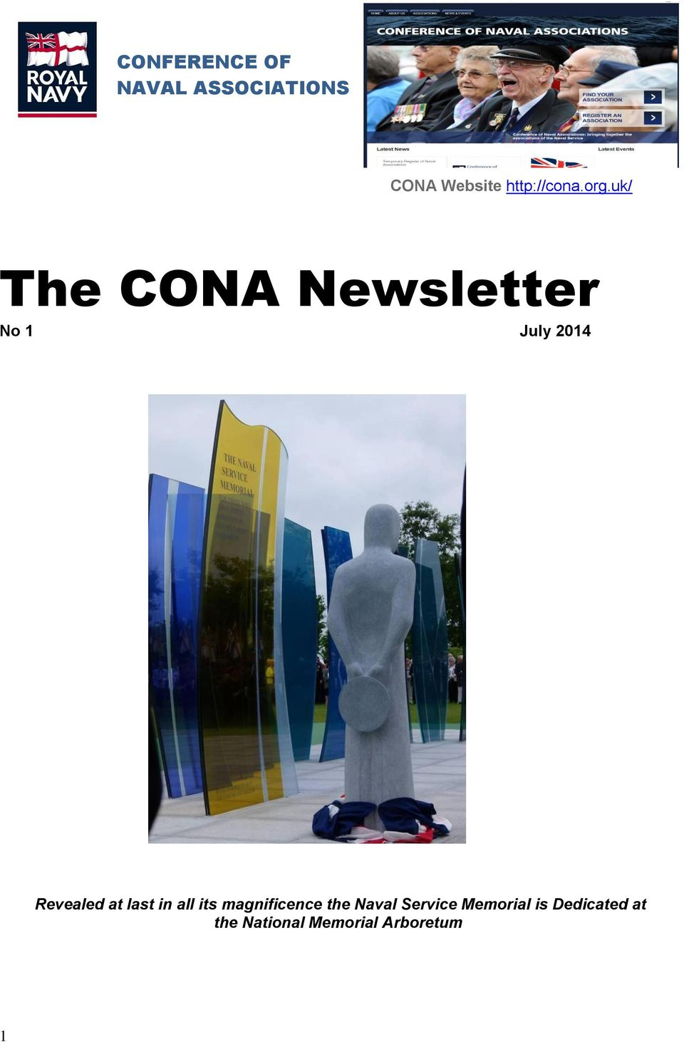 uk/ The CONA Newsletter No 1 July 2014 Revealed at
