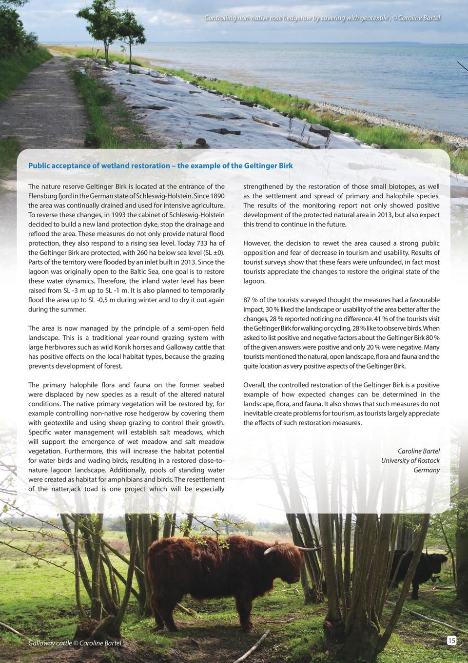 To reverse these changes, in 1993 the cabinet of Schleswig-Holstein decided to build a new land protection dyke, stop the drainage and reflood the area.