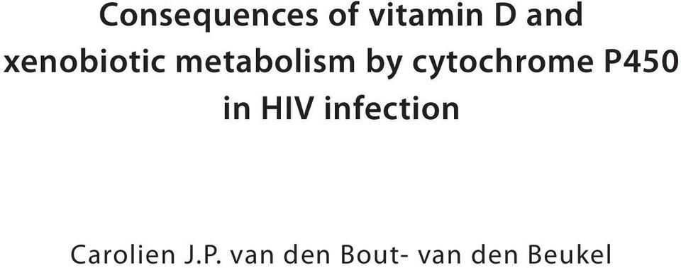 cytochrome P450 in HIV infection