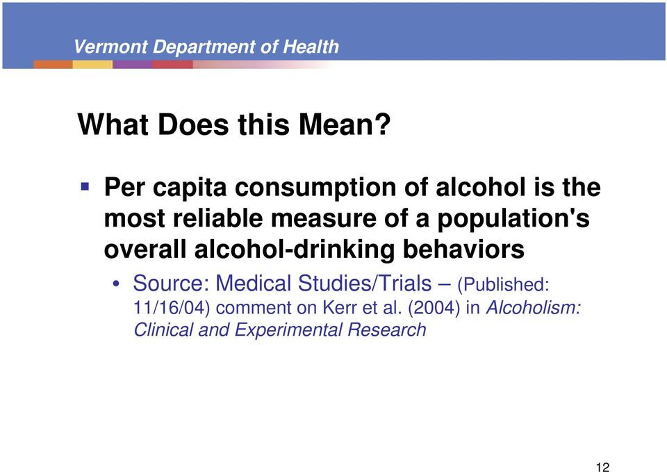 population's overall alcohol-drinking behaviors Source: Medical