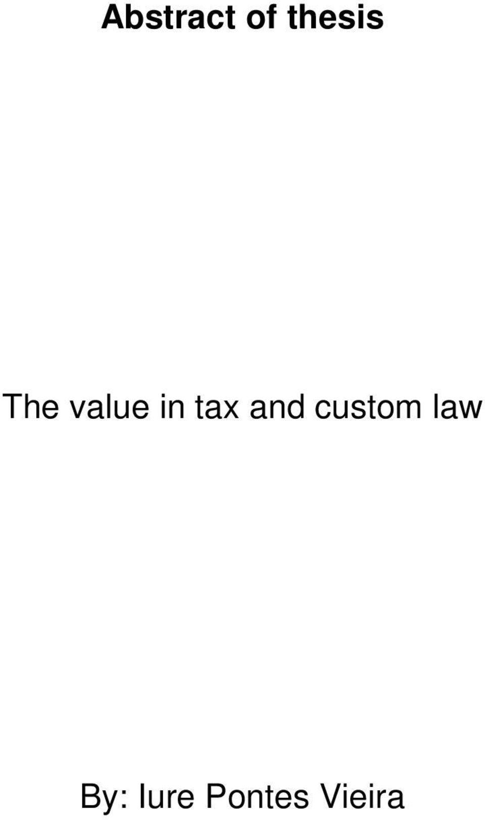 and custom law By: