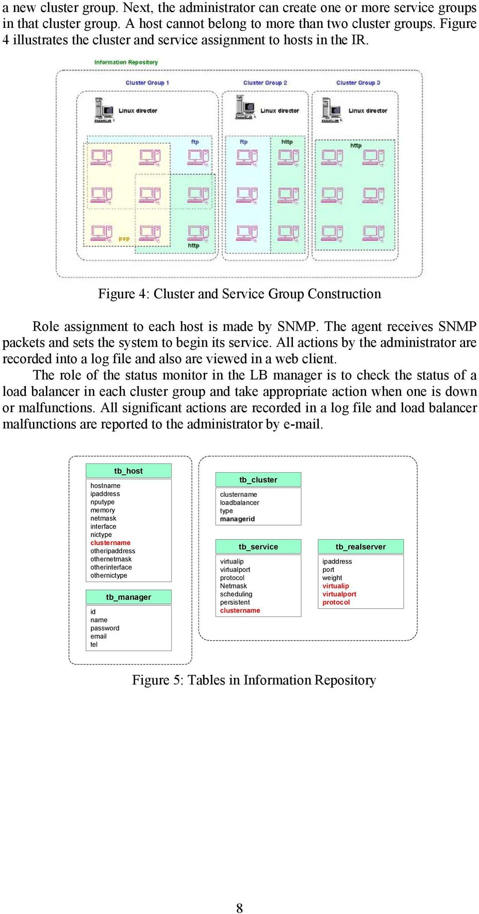 The agent receives SNMP packets and sets the system to begin its service. All actions by the administrator are recorded into a log file and also are viewed in a web client.