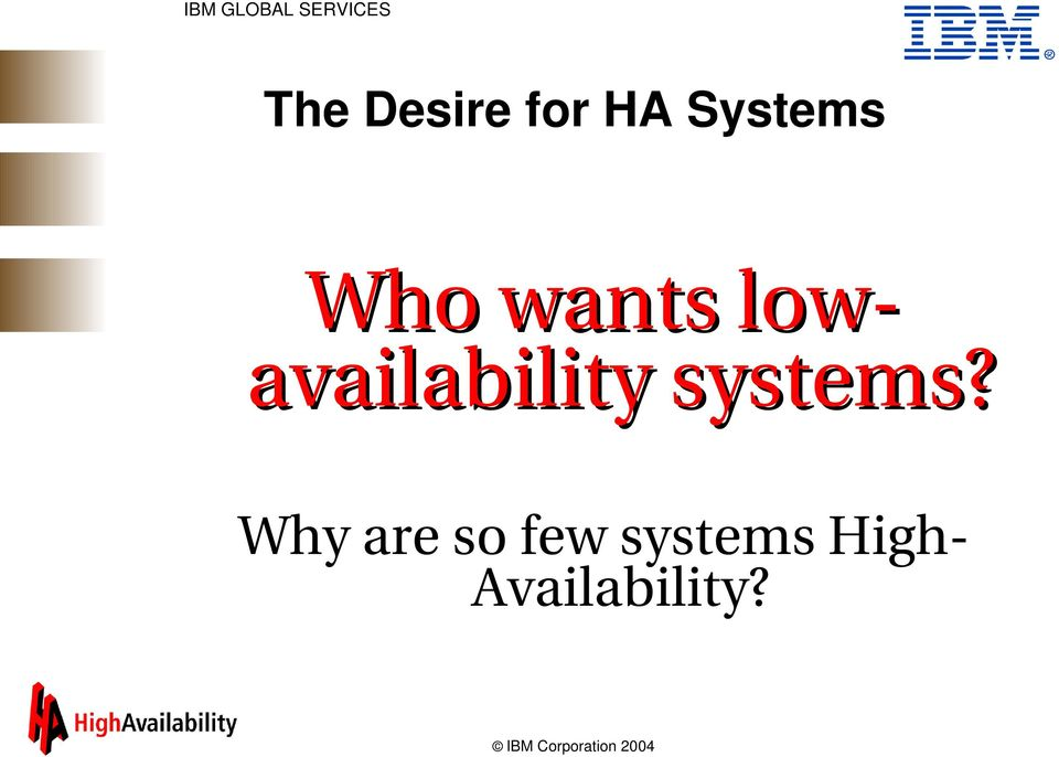 availability systems?