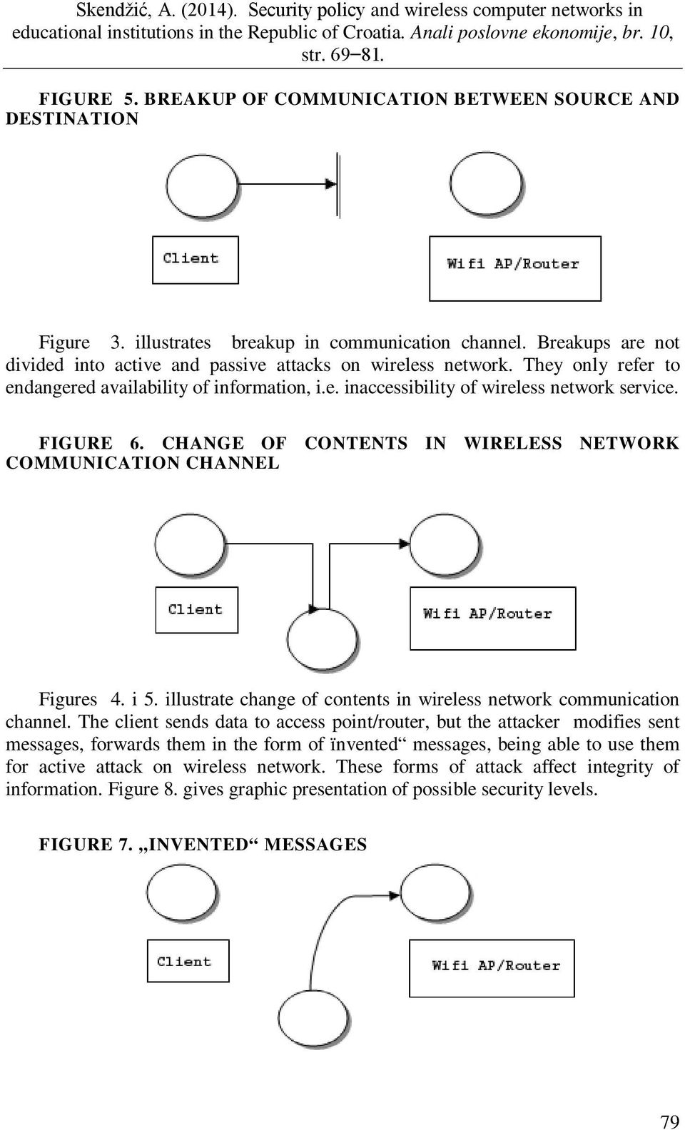 illustrate change of contents in wireless network communication channel.