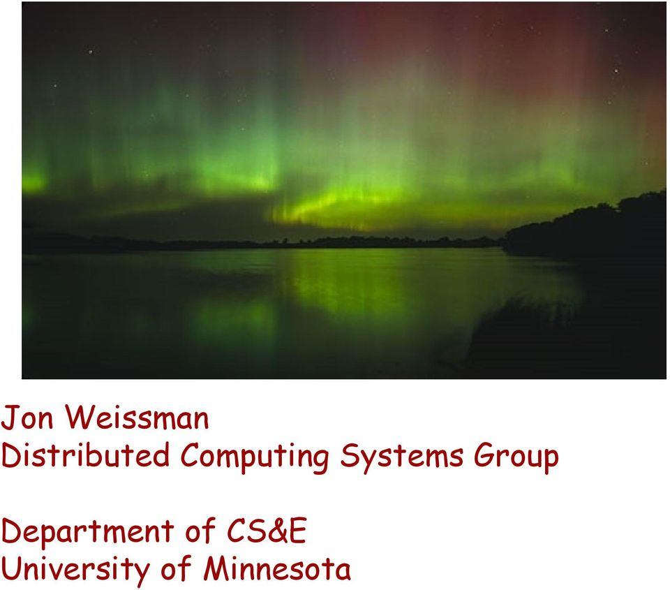 Computing Systems Group