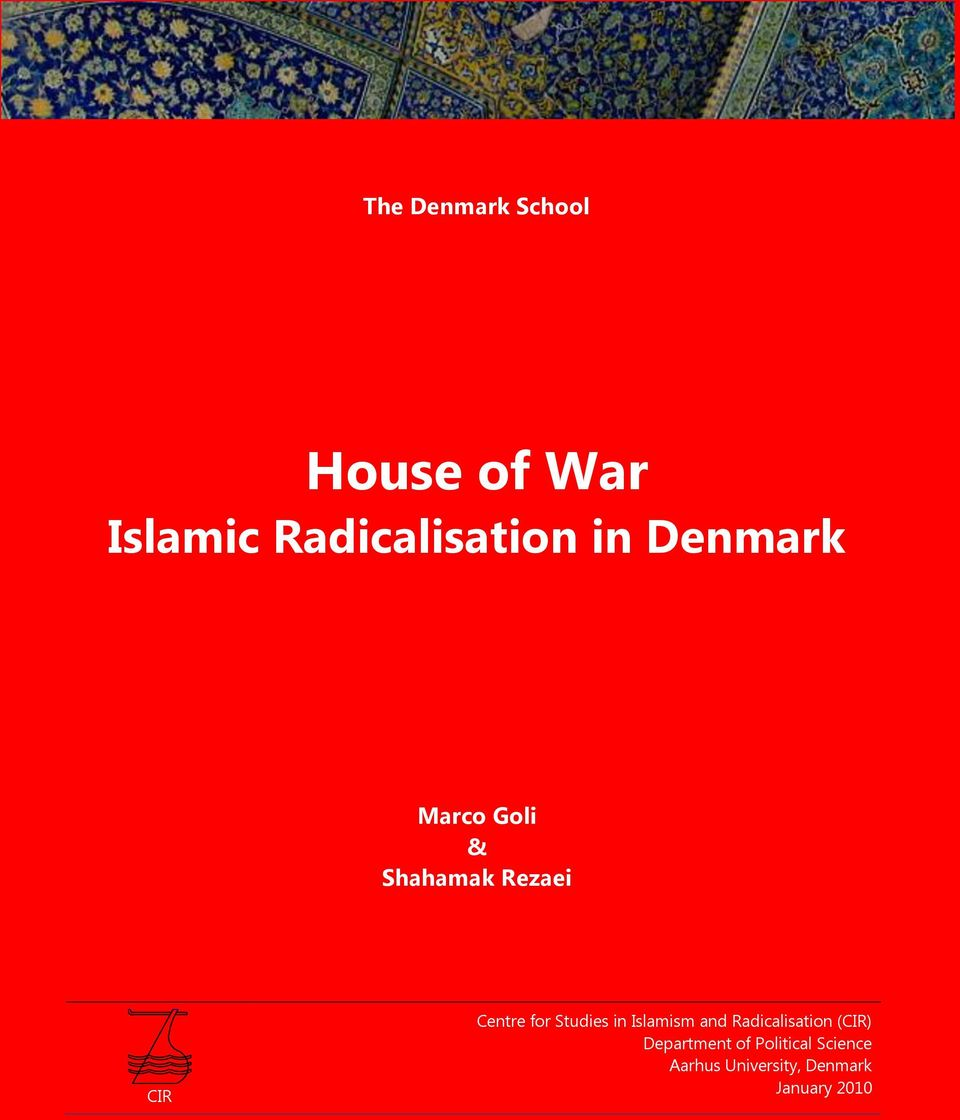 Studies in Islamism and Radicalisation (CIR) Department