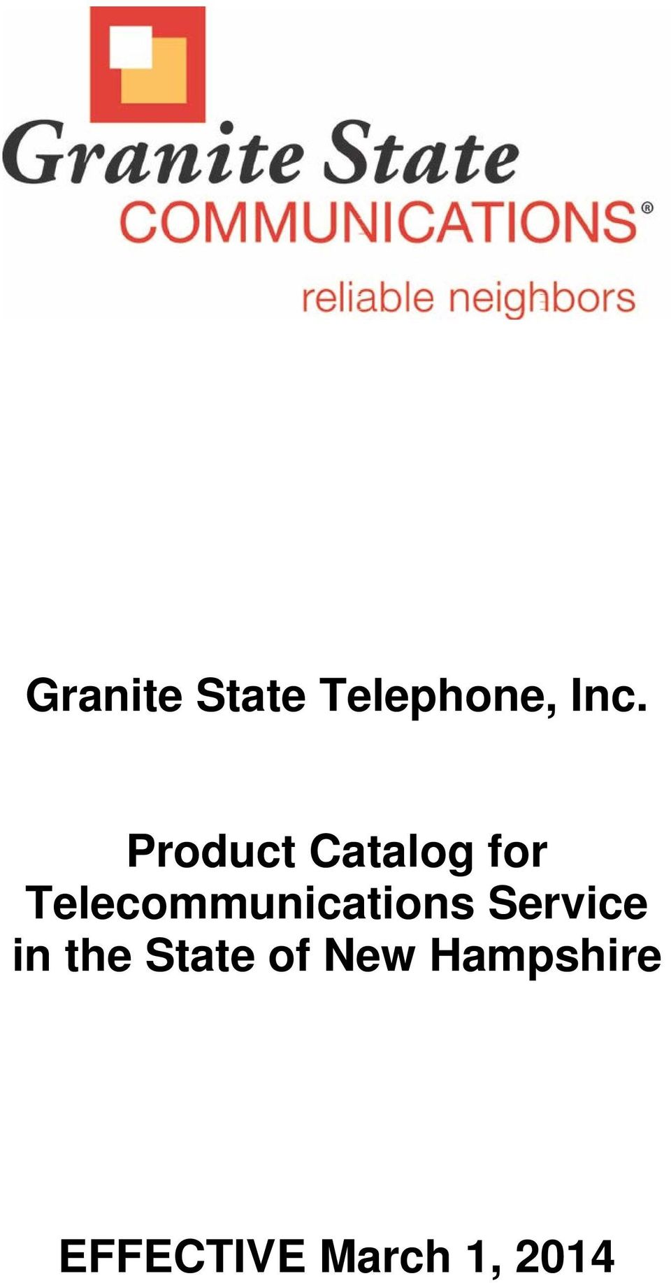 Telecommunications Service in
