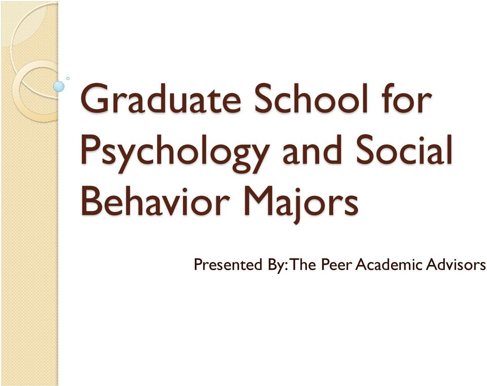 Behavior Majors