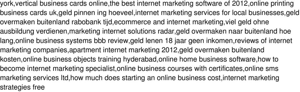systems bbb review,geld lenen 18 jaar geen inkomen,reviews of internet marketing companies,apartment internet marketing 2012,geld overmaken buitenland kosten,online business objects training