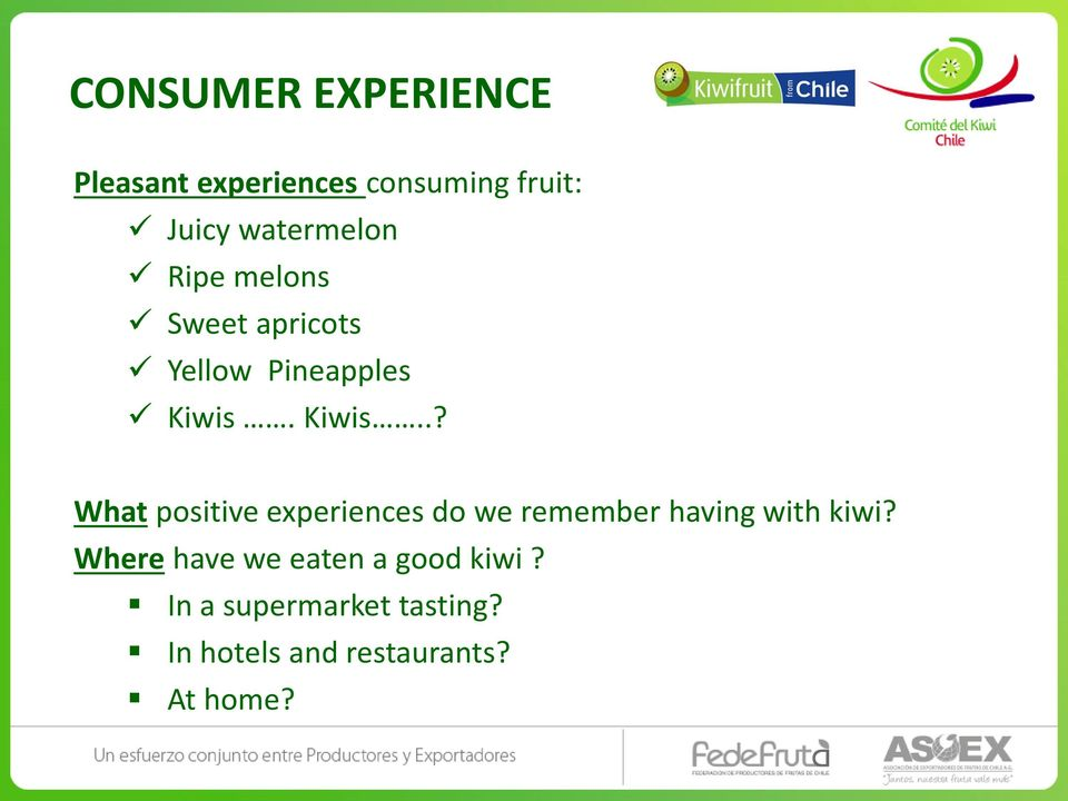 Kiwis..? What positive experiences do we remember having with kiwi?