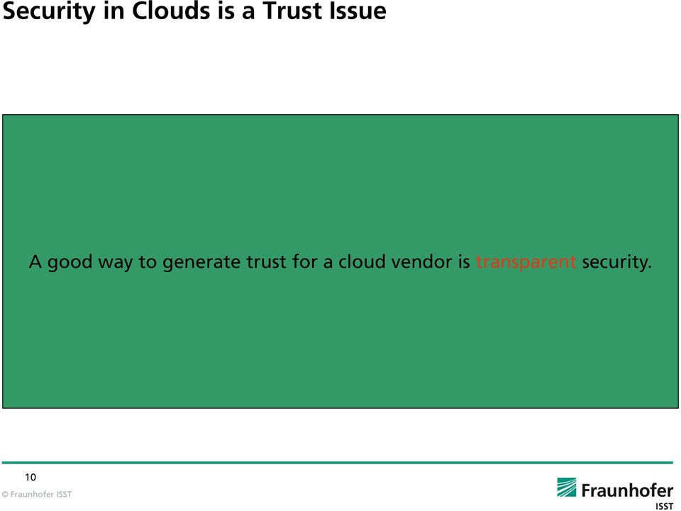 generate trust for a cloud