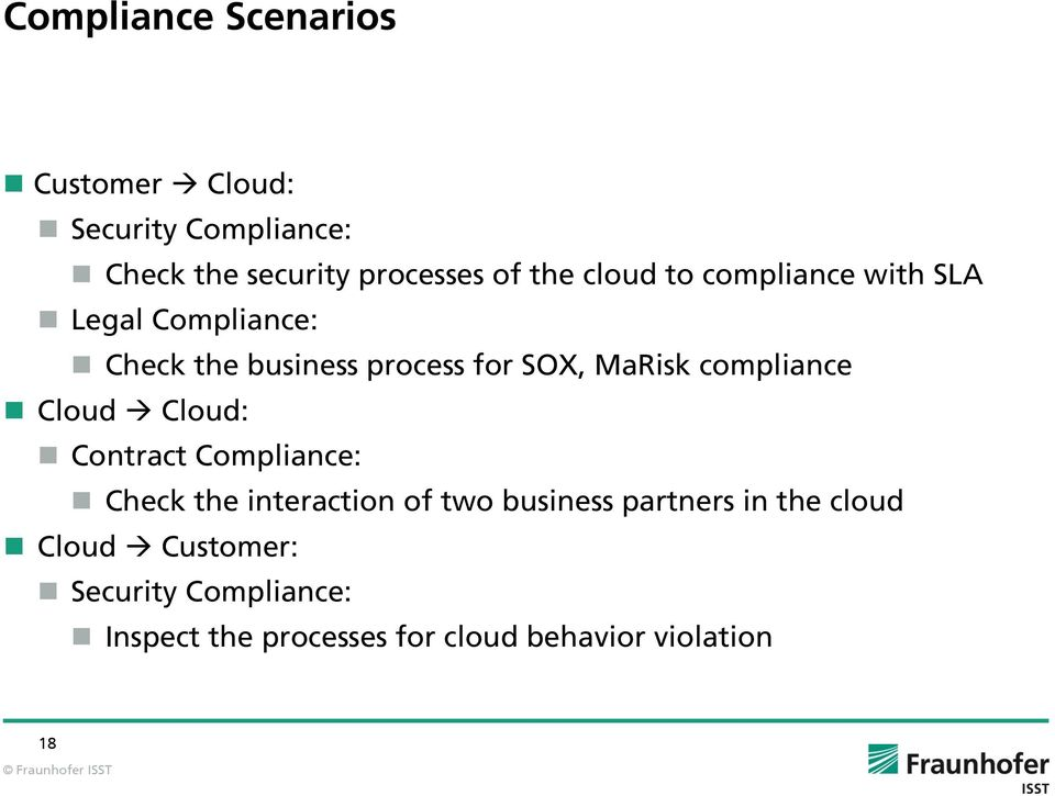 compliance Cloud Cloud: Contract Compliance: Check the interaction of two business partners in