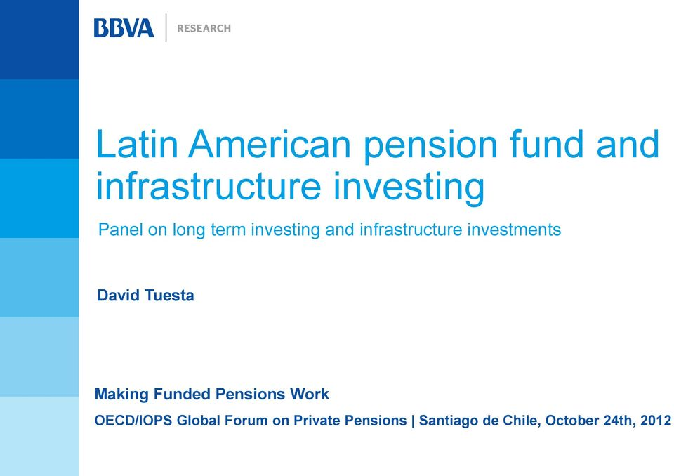 David Tuesta Making Funded Pensions Work OECD/IOPS Global