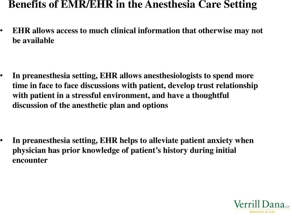 develop trust relationship with patient in a stressful environment, and have a thoughtful discussion of the anesthetic plan and