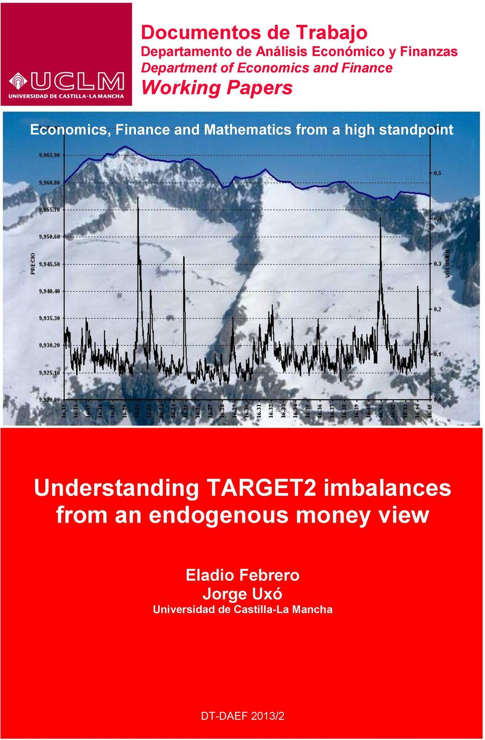 from a high standpoint Understanding TARGET2 imbalances from an endogenous
