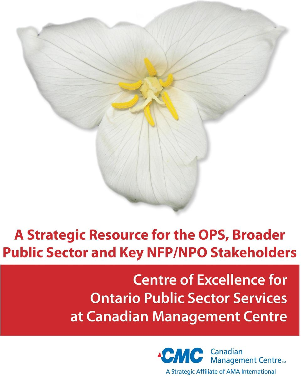 Centre of Excellence for Ontario Public