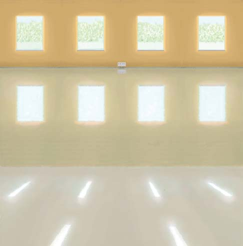 Removal of old coatings Extra shiny and durable concrete floors. Not only granite and marble fl oors are polished for a shiny, durable surface.