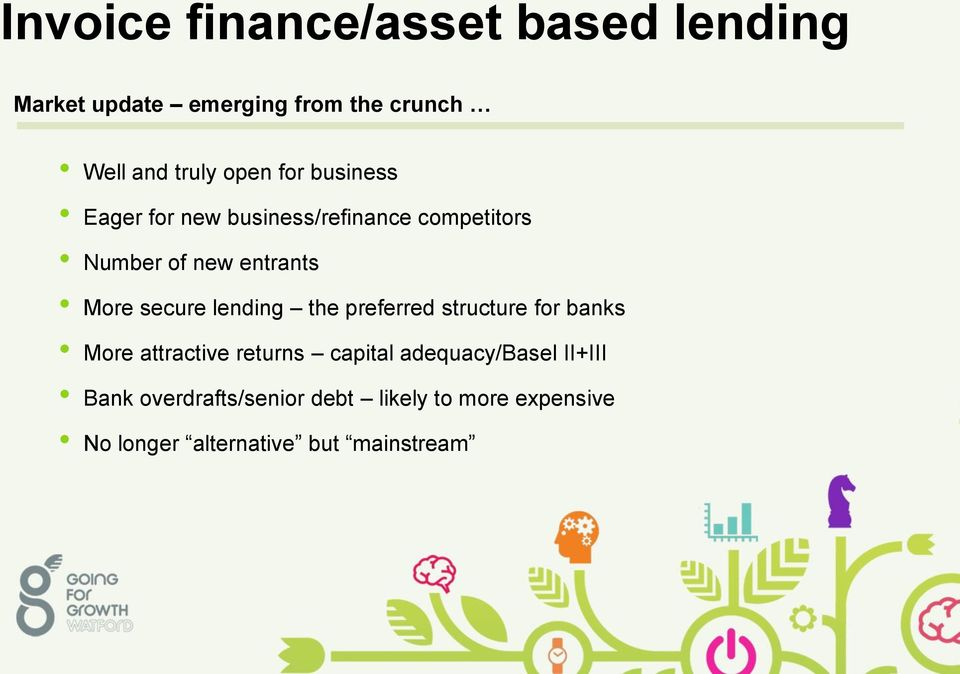 secure lending the preferred structure for banks More attractive returns capital
