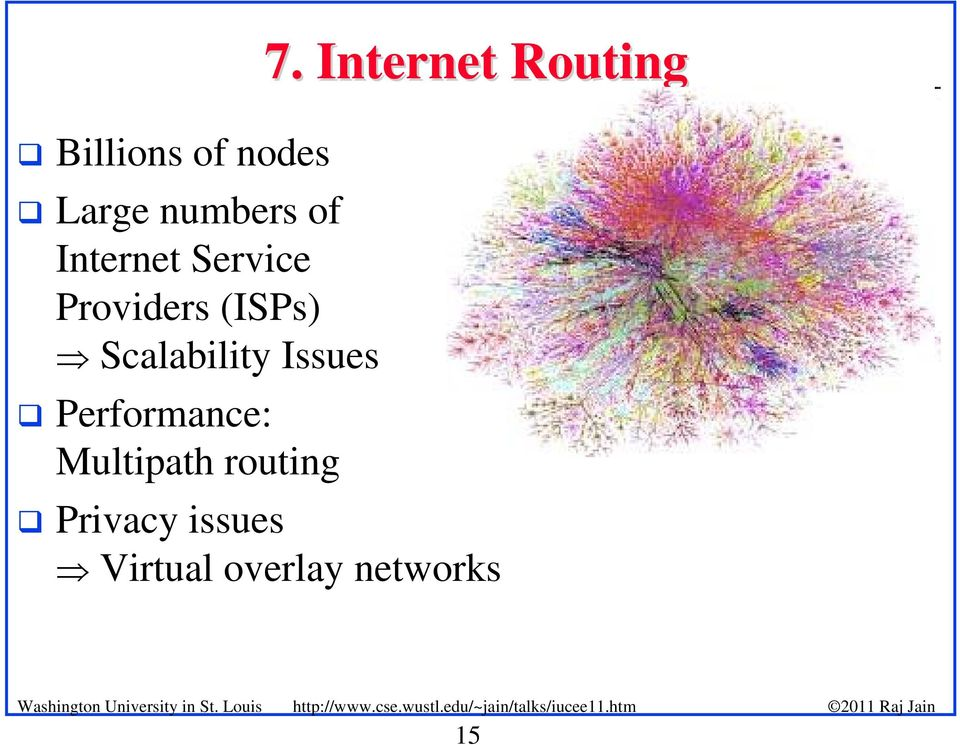 Performance: Multipath routing 7.