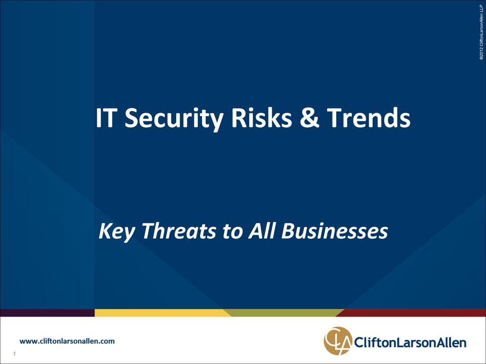 Key Threats to