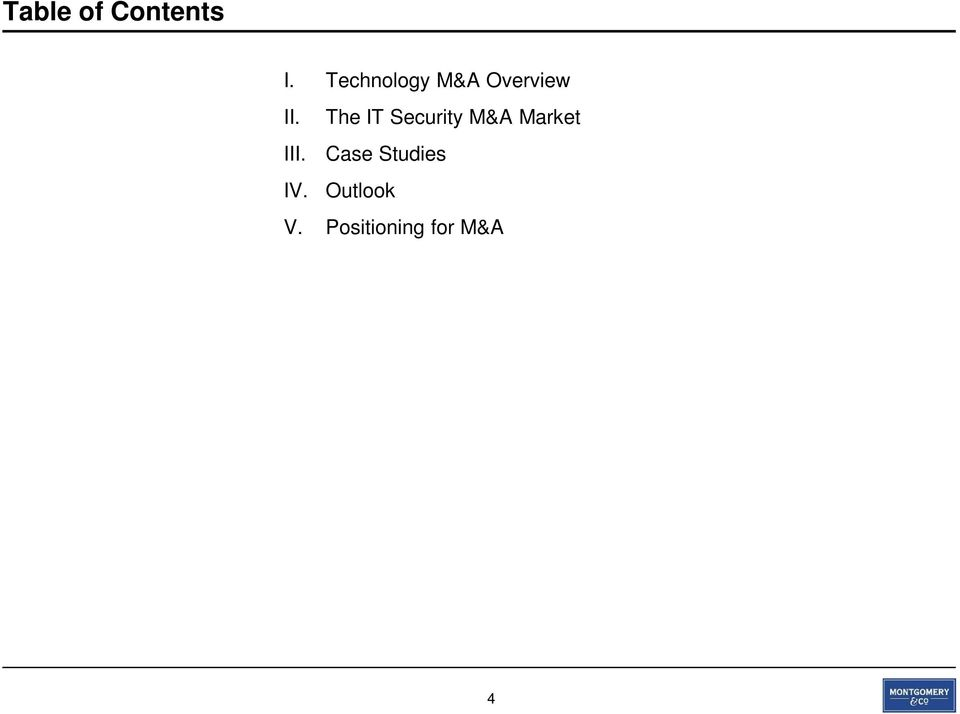 The IT Security M&A Market III.