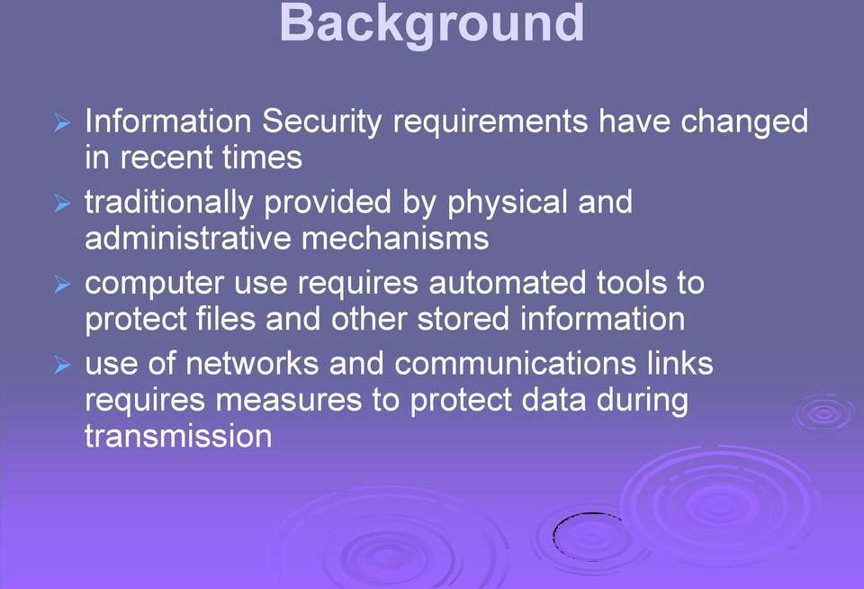 requires automated tools to protect files and other stored information use of