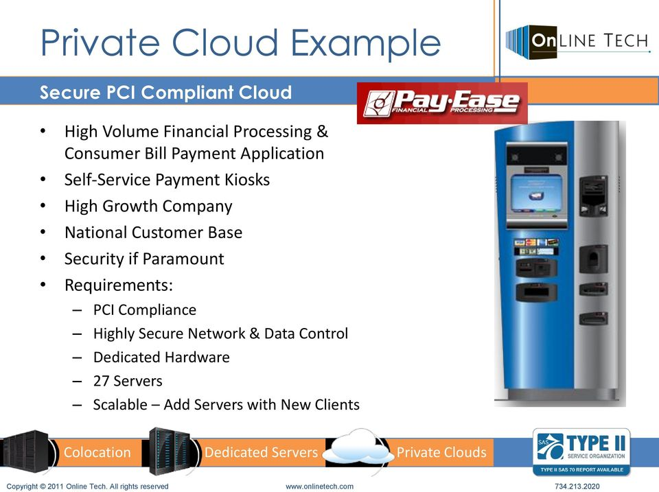 National Customer Base Security if Paramount Requirements: PCI Compliance Highly
